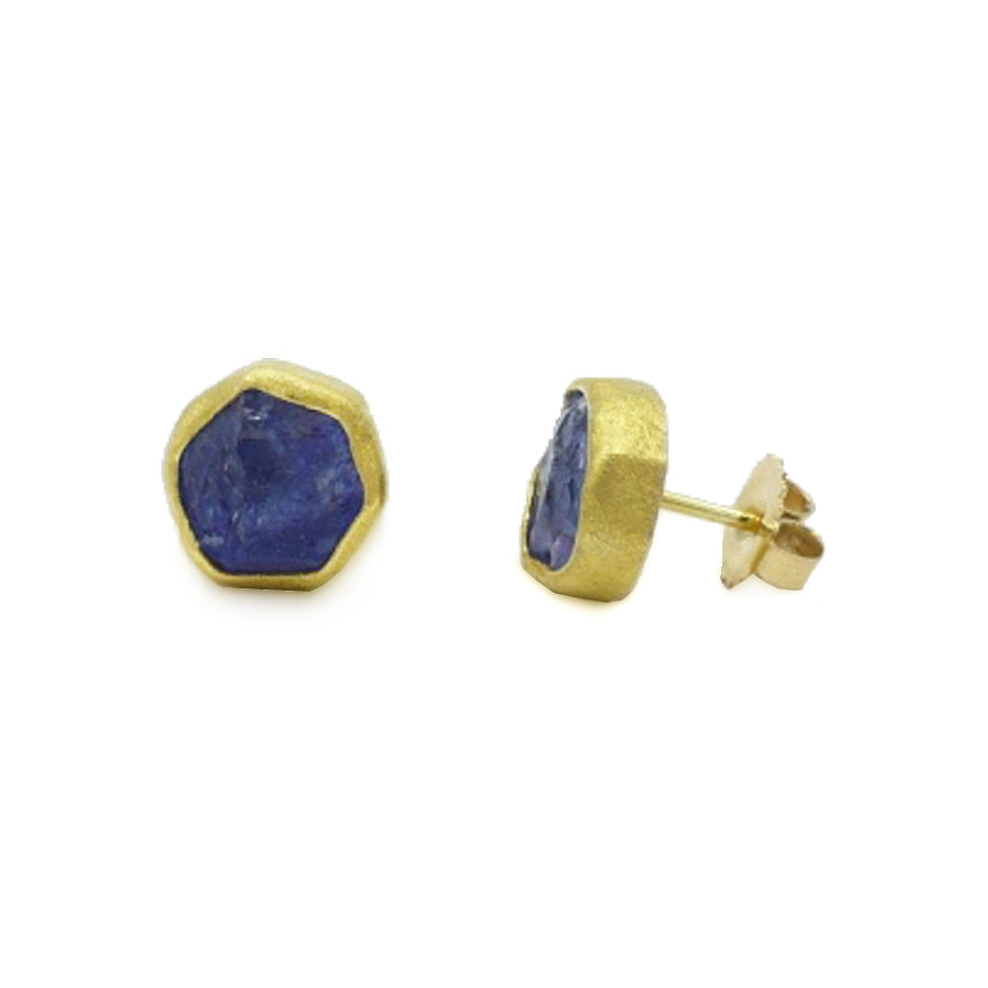 Petra Class Rough Tanzanite Studs