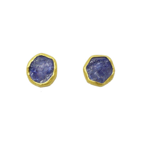 Petra Class Abstract Faceted Amethyst Studs