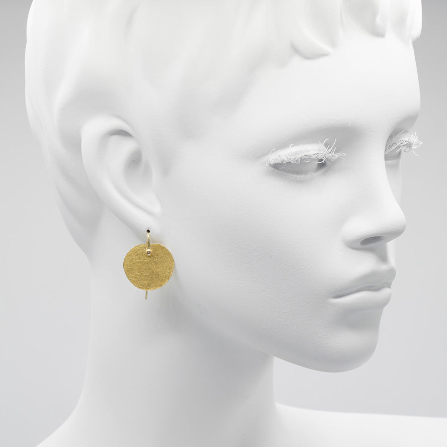 Petra Class Gold & Diamond Petal Earring