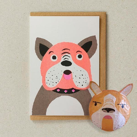 Japanese Paper Balloon Greeting Card | Dog