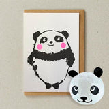 Japanese Paper Balloon Greeting Card | Panda