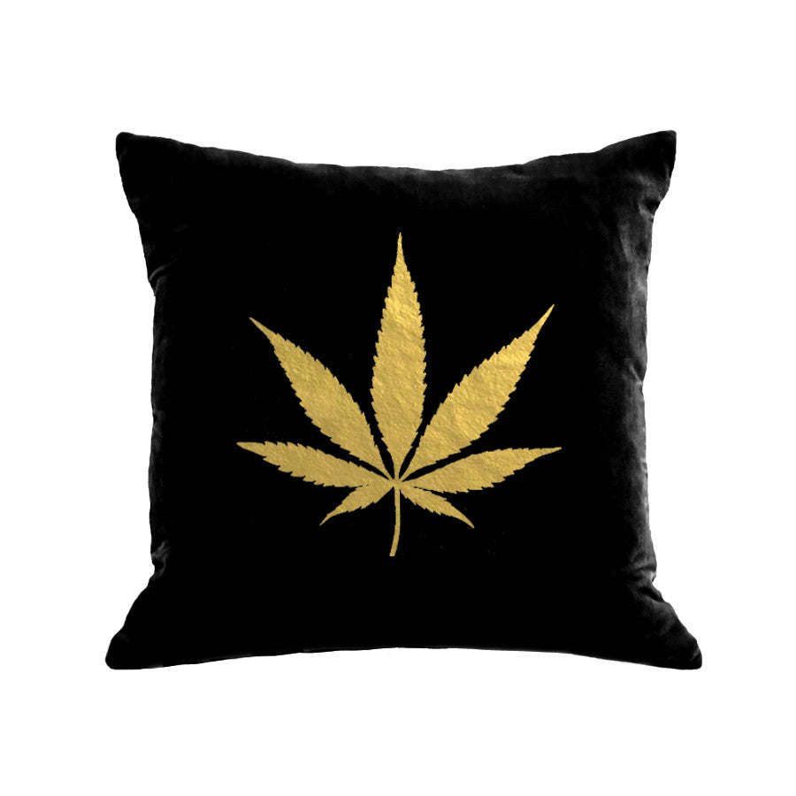 Pot Pillow - black / gold foil