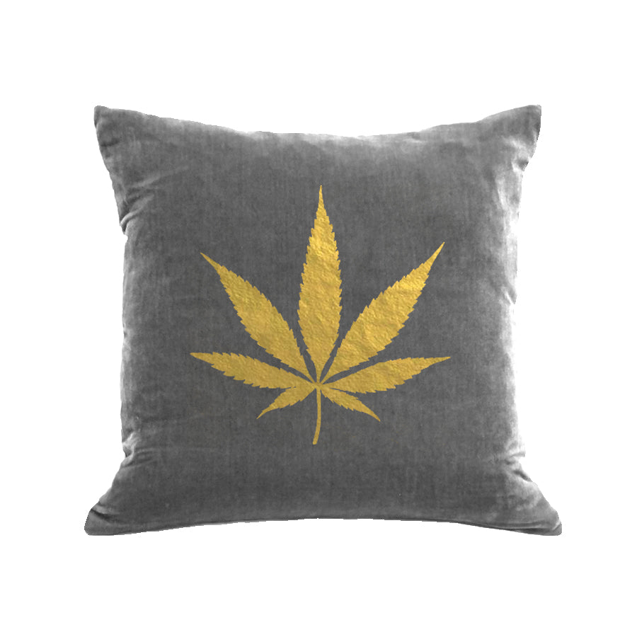 Pot Pillow - platinum / gold foil