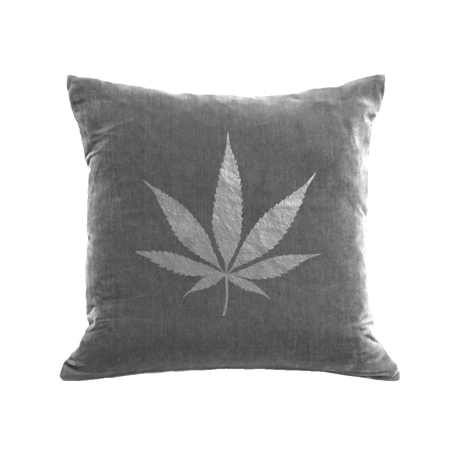 Pot Pillow - platinum / gunmetal foil