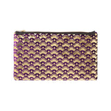 cherry blossom pouch - grape / gold foil