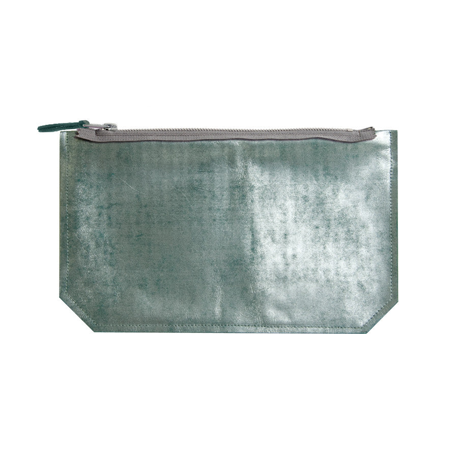 leather mercury print pouch