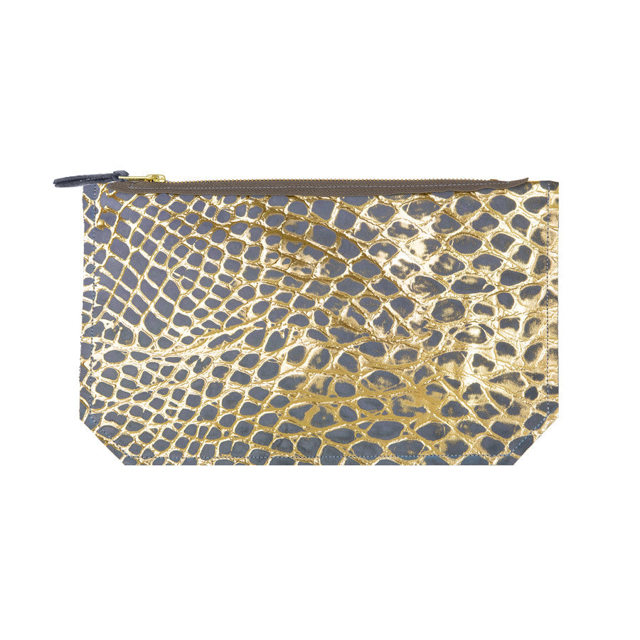 leather pebble print pouch