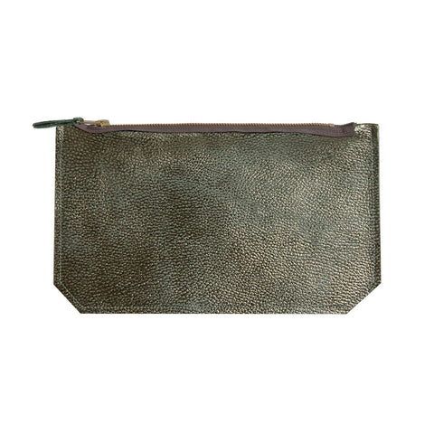 leather geo pouch