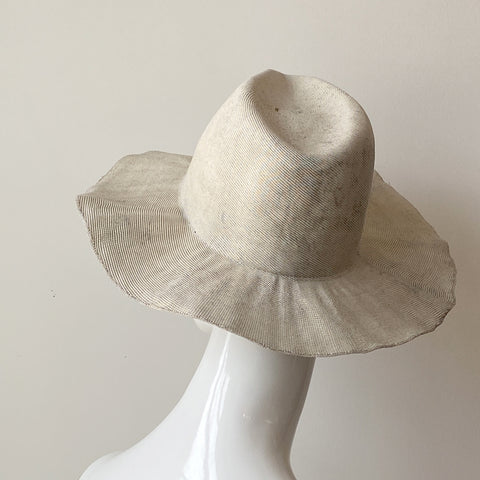 Open Weave Wide Brimmed Straw Hat Natural | Italy