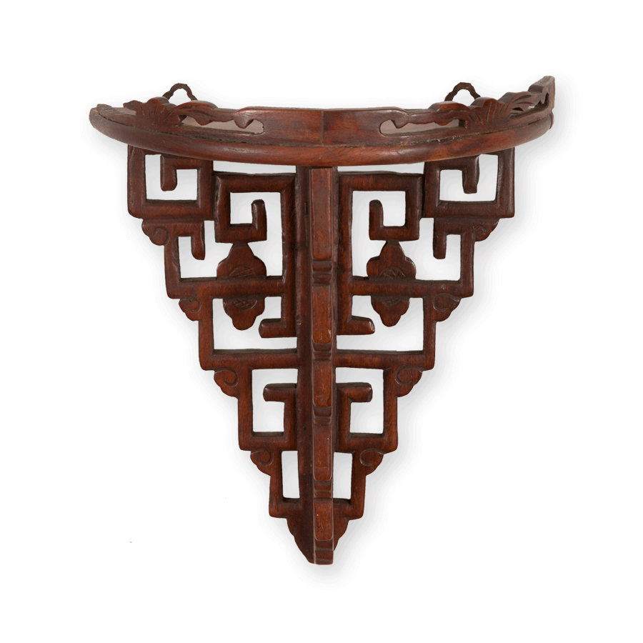 Set of Vintage Chinese Rosewood Wall Brackets