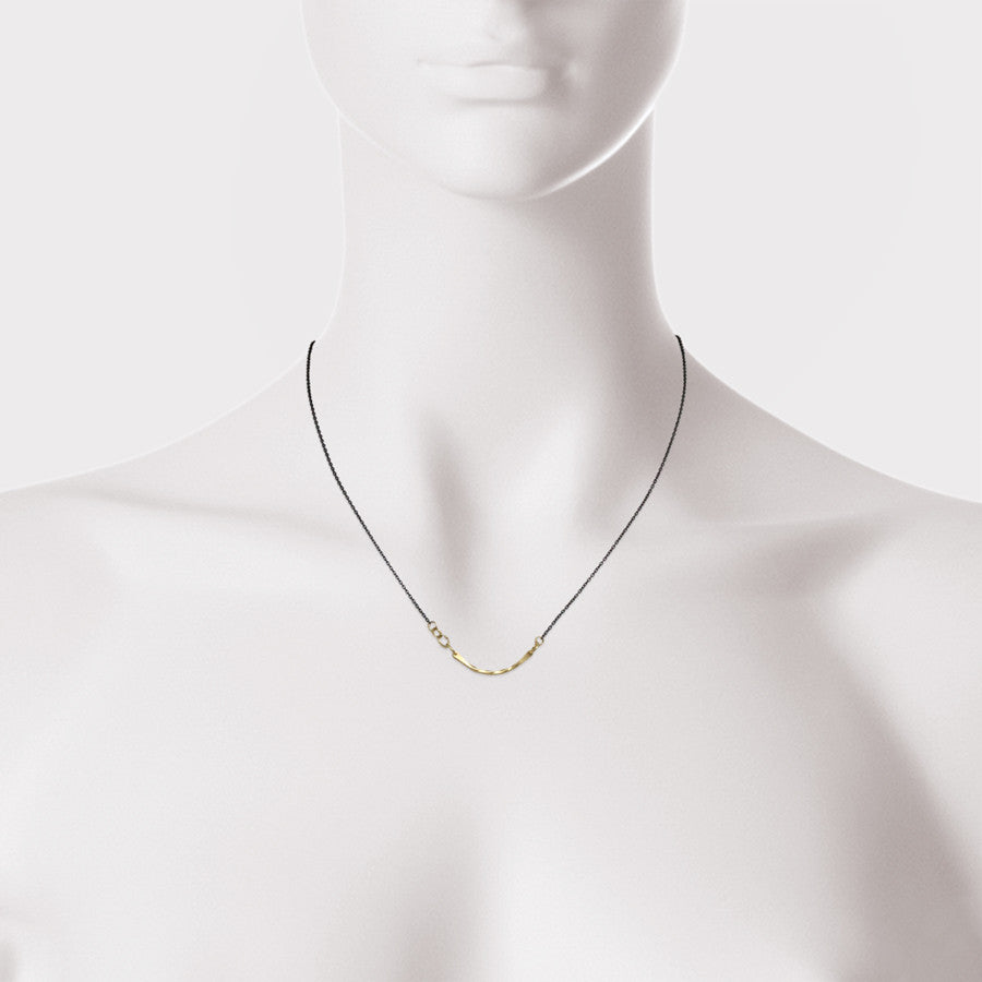 Mini Bias Arc Necklace