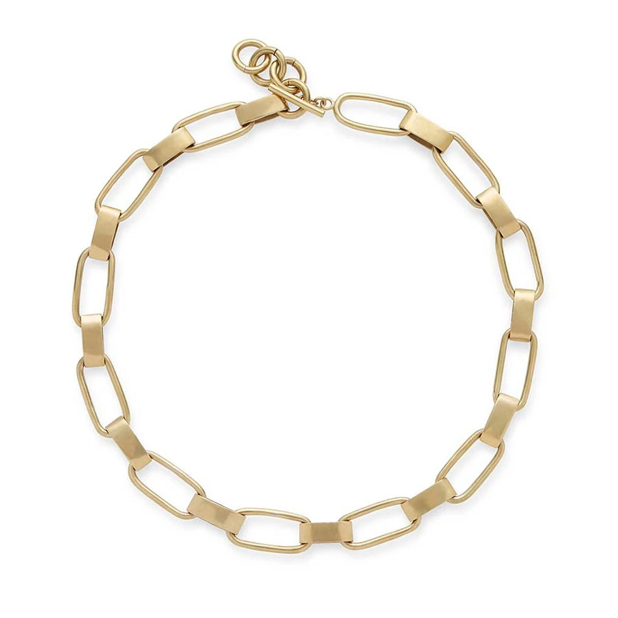 Brass Chain Link Collar Necklace