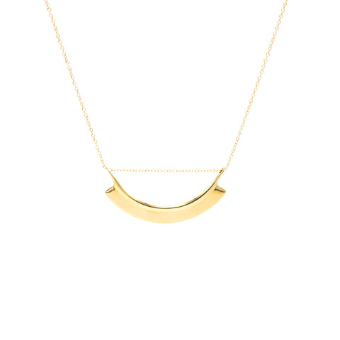 Brass Toggle Tag Necklace