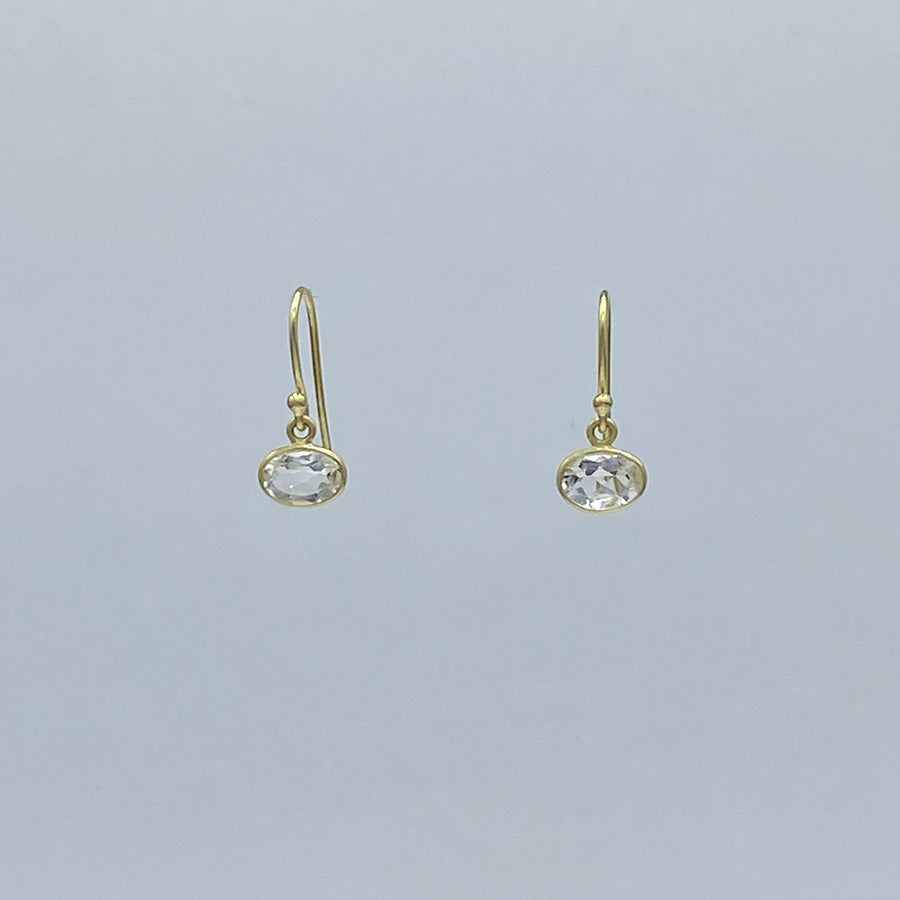 Kothari | Petite Horizontal Earrings | Crystal