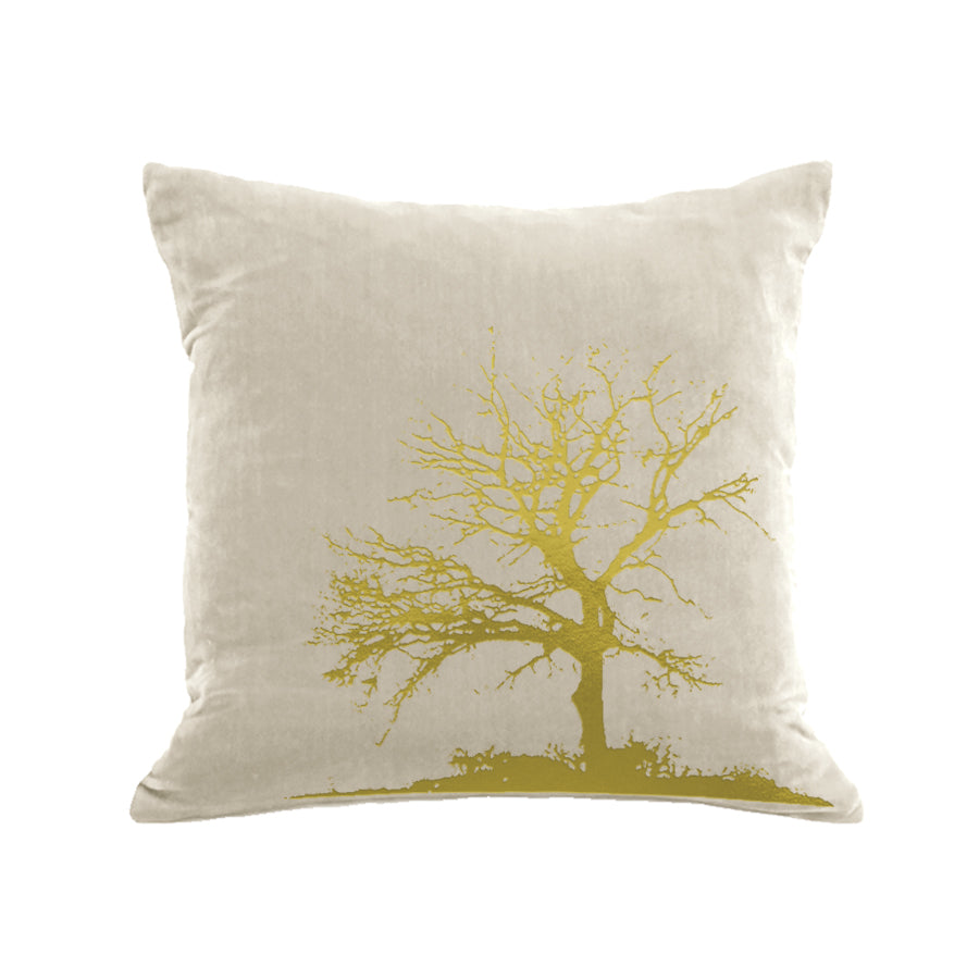 Tree Pillow - cream / gold foil