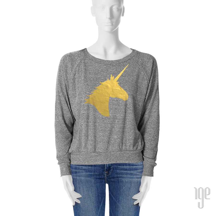 Metallic Unicorn Dolman Pullover