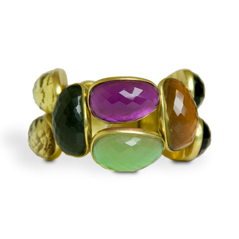 Vaubel Irregular Jewel Tone Multi-Stone Bracelet