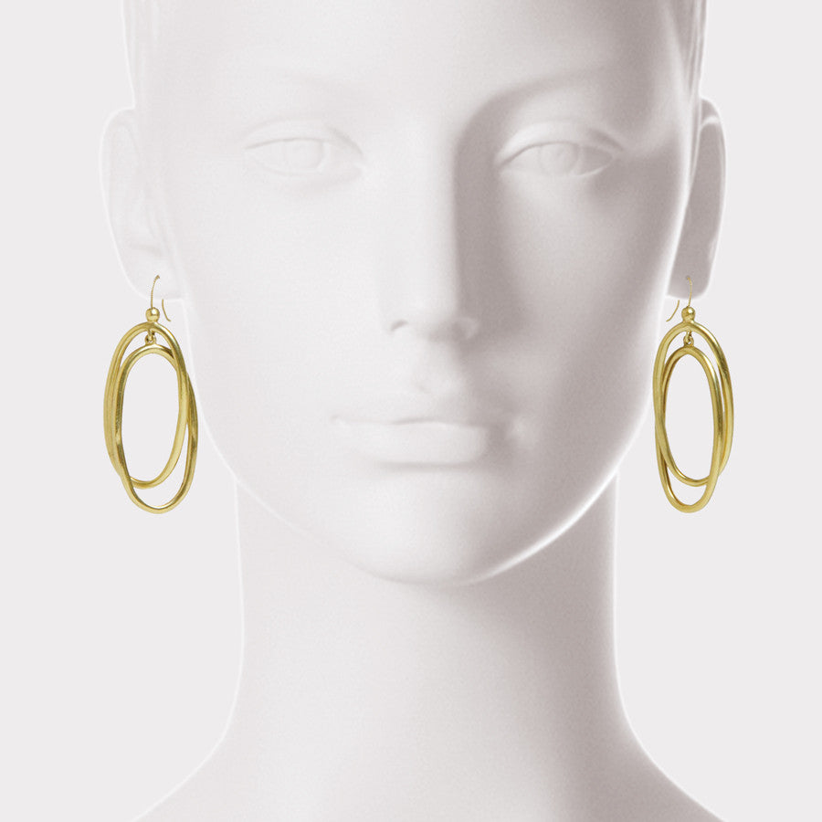 Multi-Drop Oval Hoop Earrings