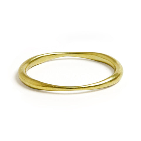 Steven Vaubel Oval Pinched Bangle Bracelet