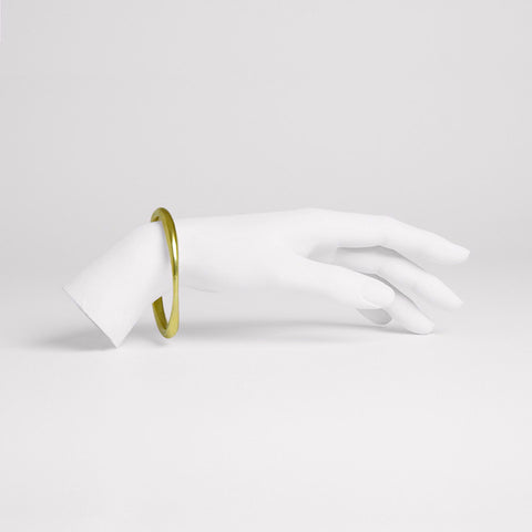 Tapered Brass Bangle Bracelet