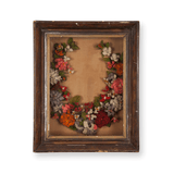 Victorian Floral Wreath Shadow Box