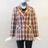 70's Madras Two-Button Jacket
