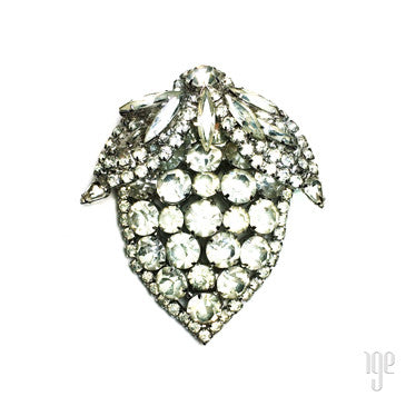 Vintage Rhinestone Apple Pin