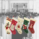 50s Christmas Felt Stockings | Train