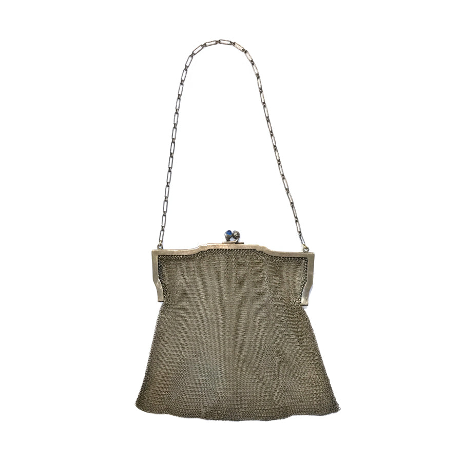 1920's Silver Mesh Evening Bag