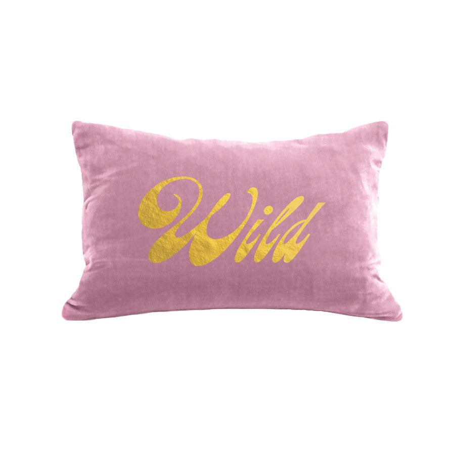 Wild Pillow - antique pink / gold foil