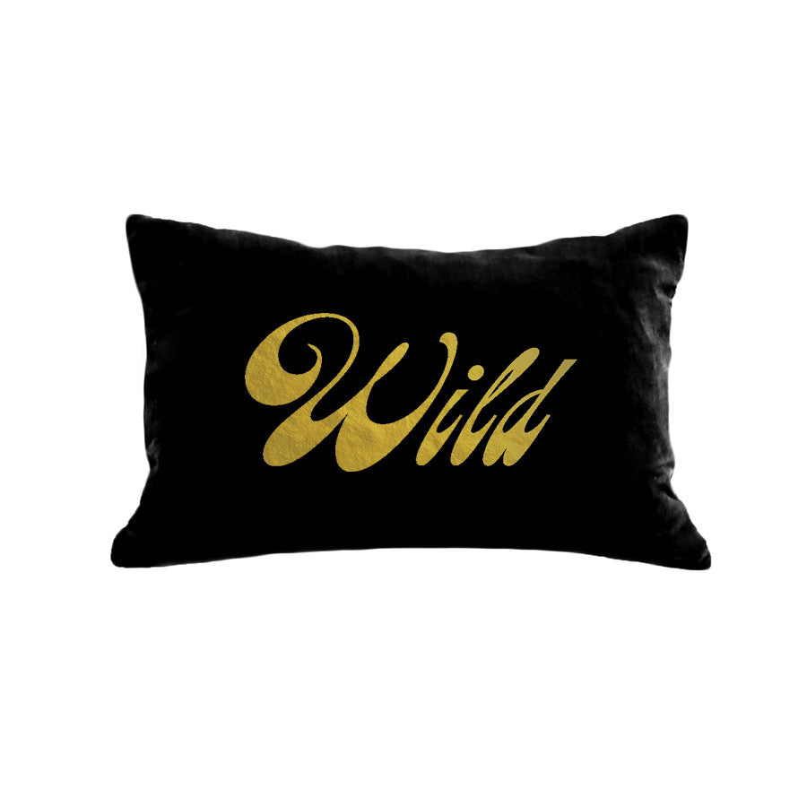 Wild Pillow - black / gold foil