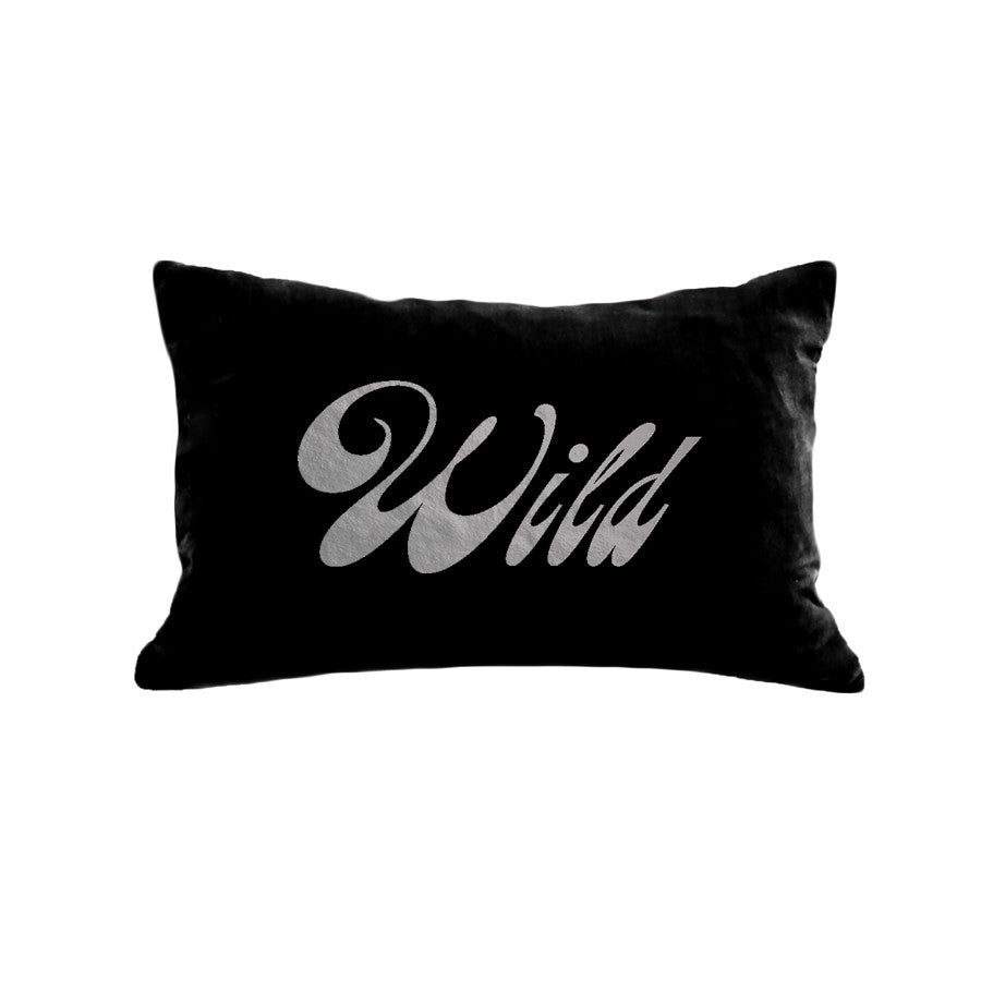 Wild Pillow - black / gunmetal foil