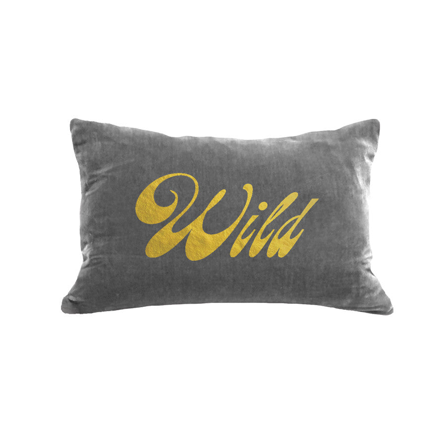 Wild Pillow - platinum / gold foil