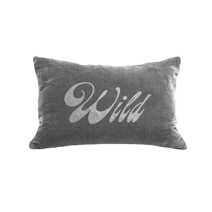 Wild Pillow - platinum / gunmetal foil