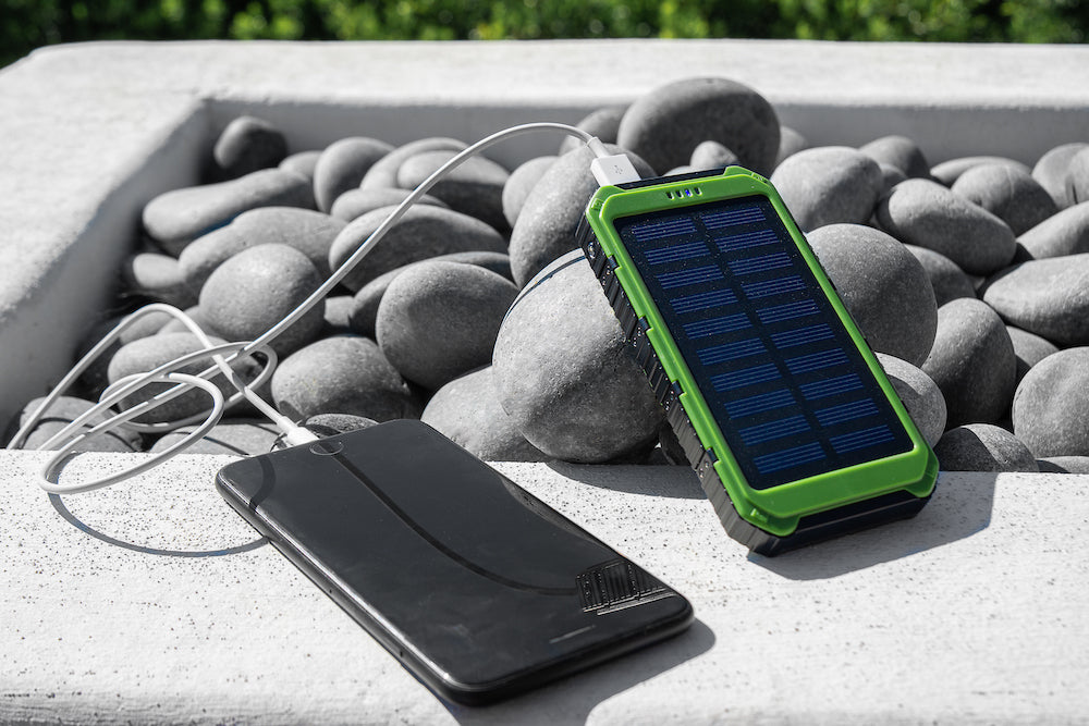 Solar Power Bank 10000mAh Solar Charger Waterproof Portable External Battery USB Charger
