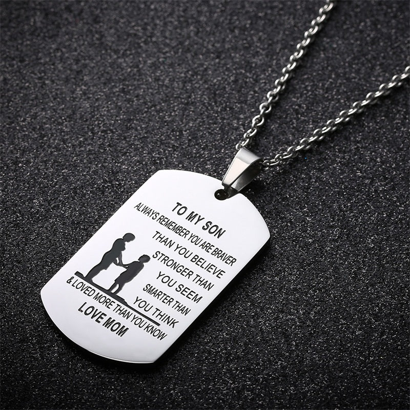 To my son from mom stainless steel pendant necklace my sparkles to my son from mom stainless steel pendant necklace mozeypictures Choice Image