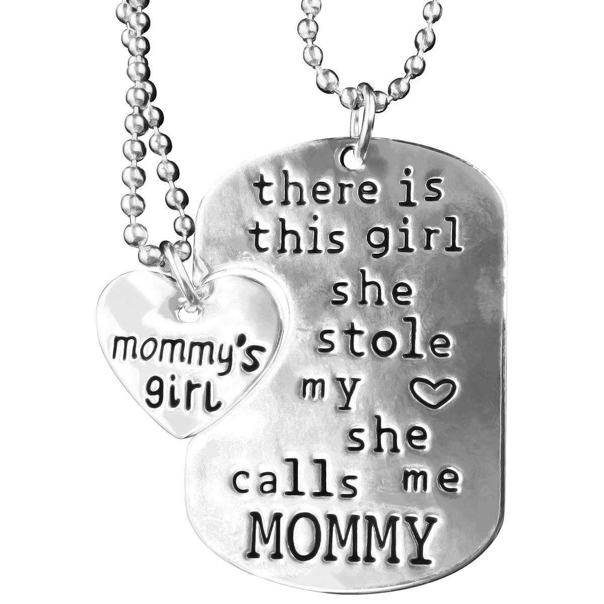There is this girl she calls me mommy necklace set my sparkles store there is this girl she calls me mommy necklace set aloadofball Choice Image