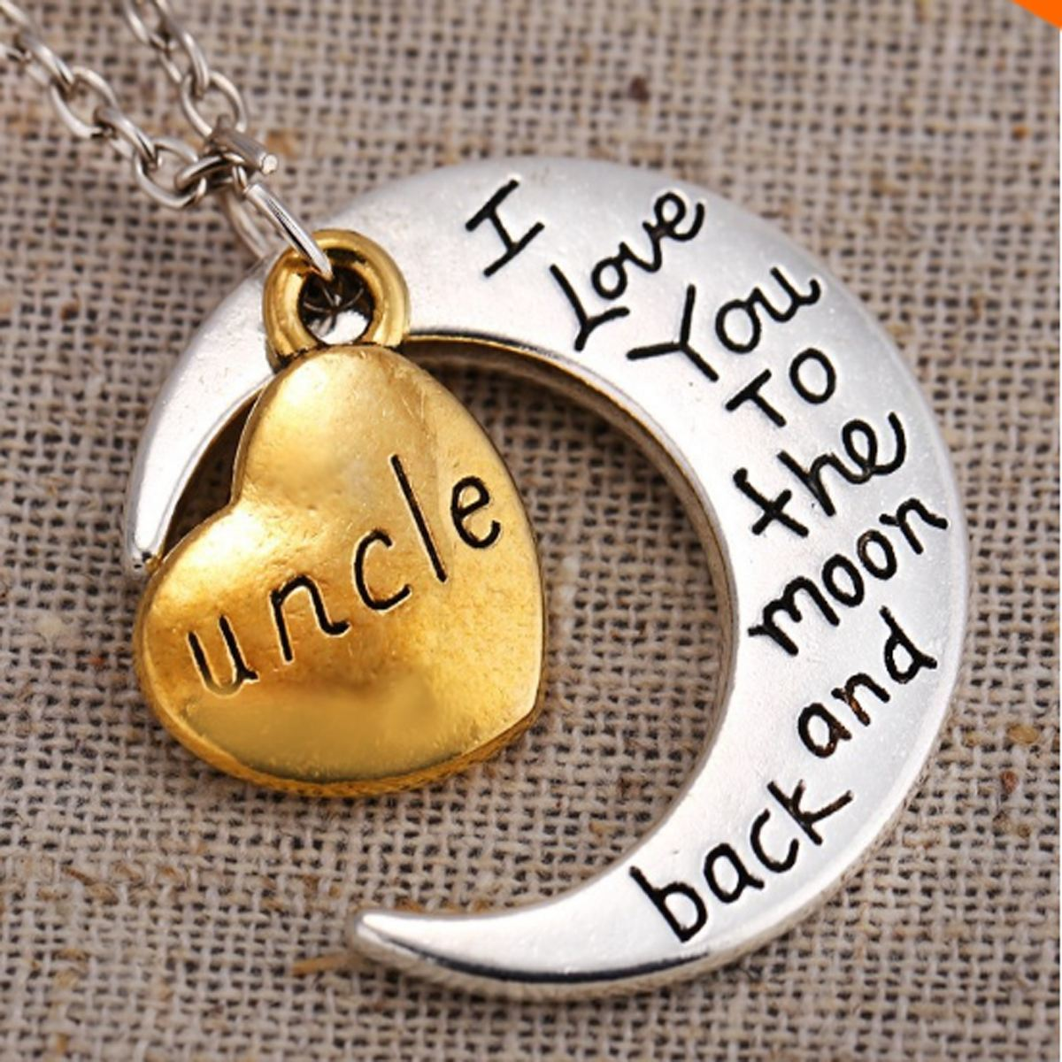 I love you to the moon and back pendant necklace my sparkles store necklace i love you to the moon and back pendant necklace mozeypictures Choice Image