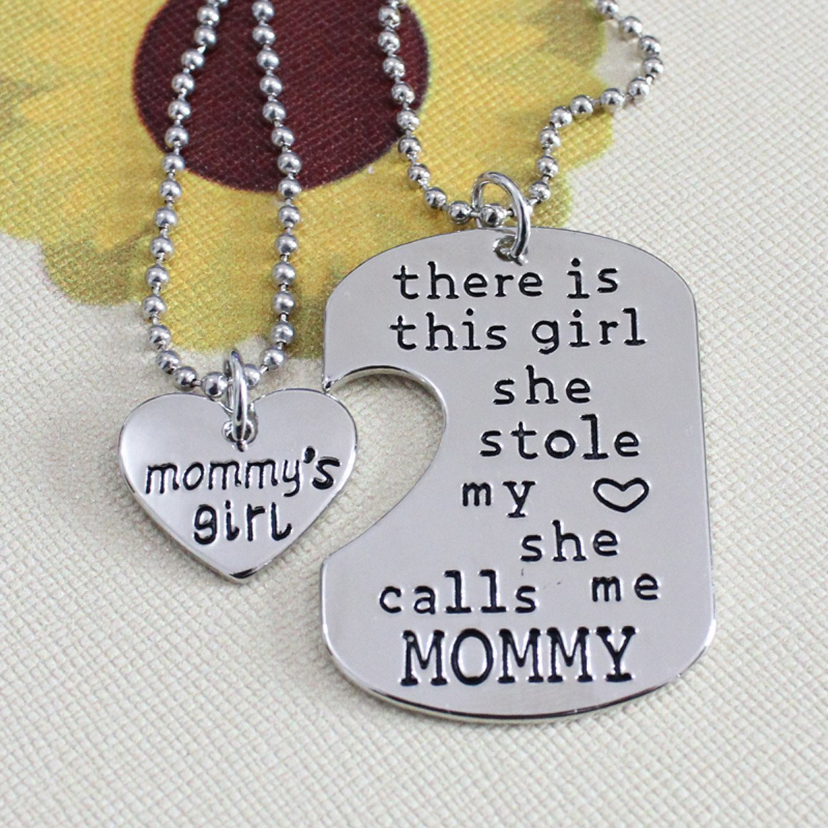 There is this girl she calls me mommy necklace set my sparkles store necklace there is this girl she calls me mommy necklace set aloadofball Choice Image