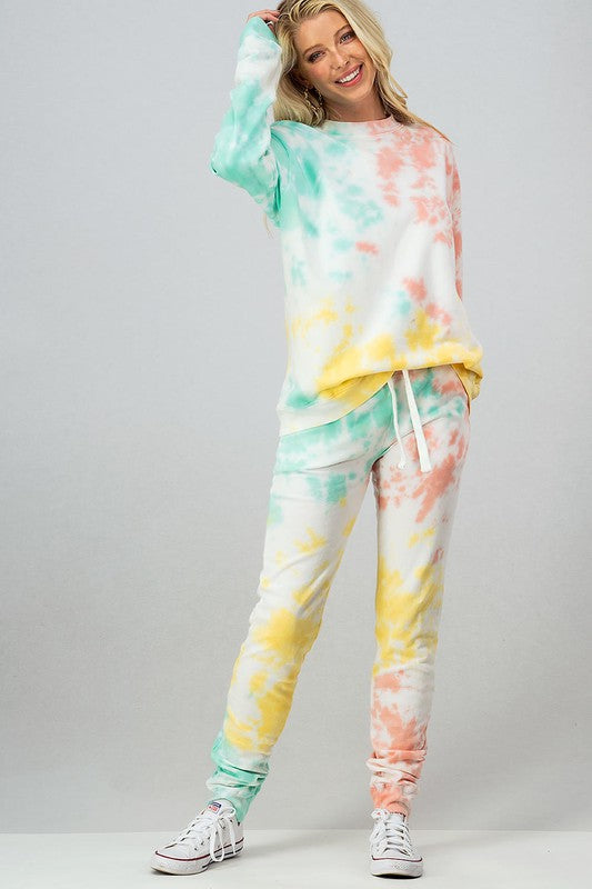 Tie Dye Sweatpants - Mint