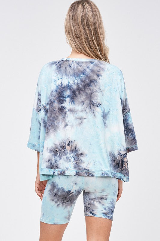 Sky High Tie Dye Top
