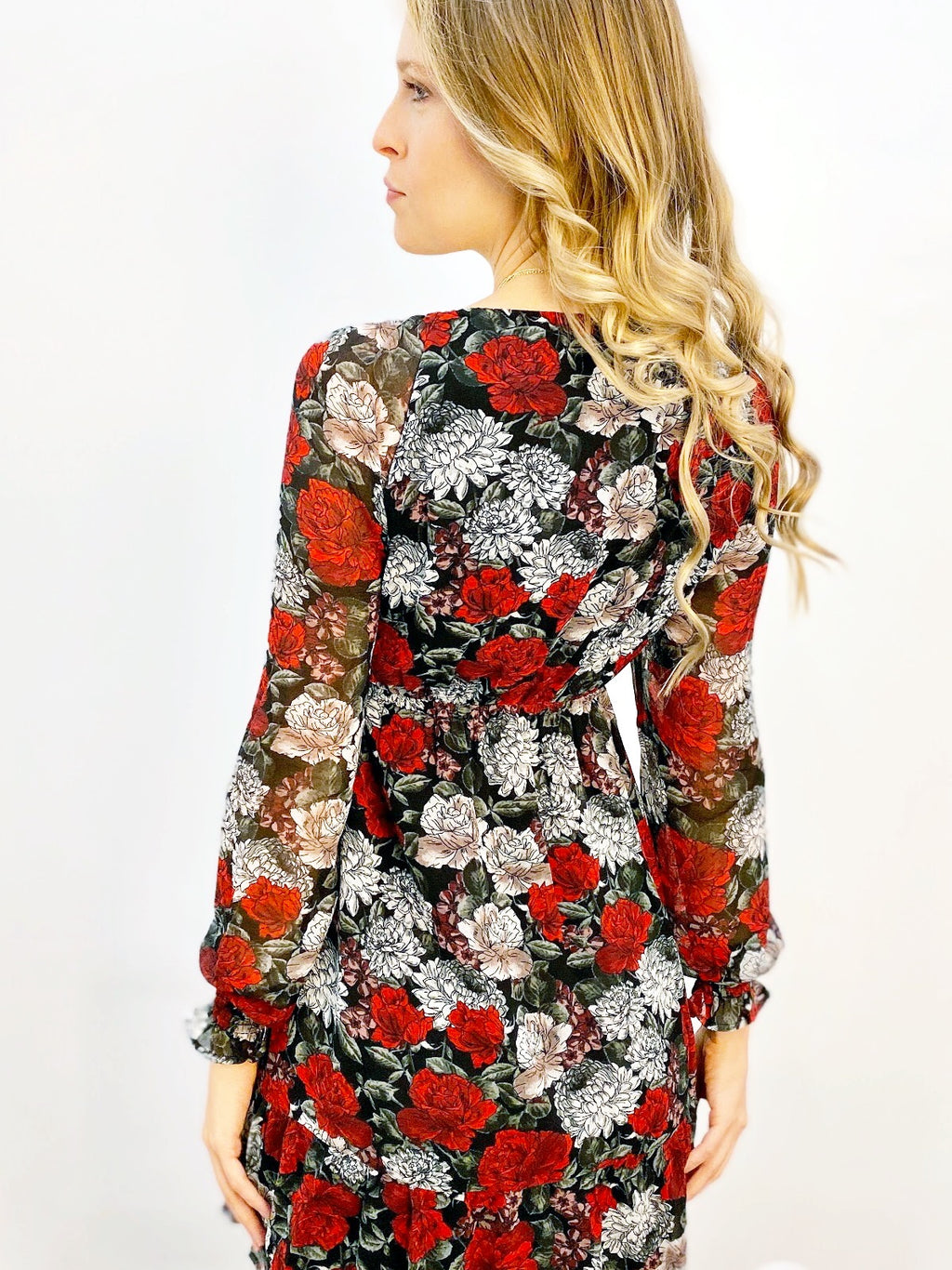 I Touch Roses Mini Dress