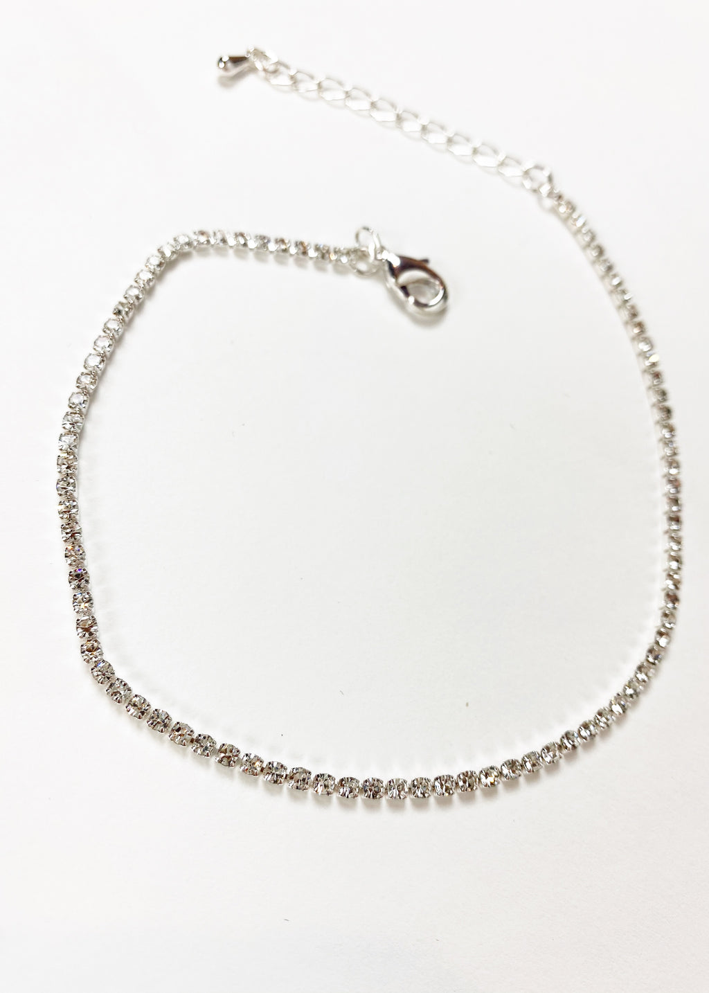 Single Chain Anklet - Silver