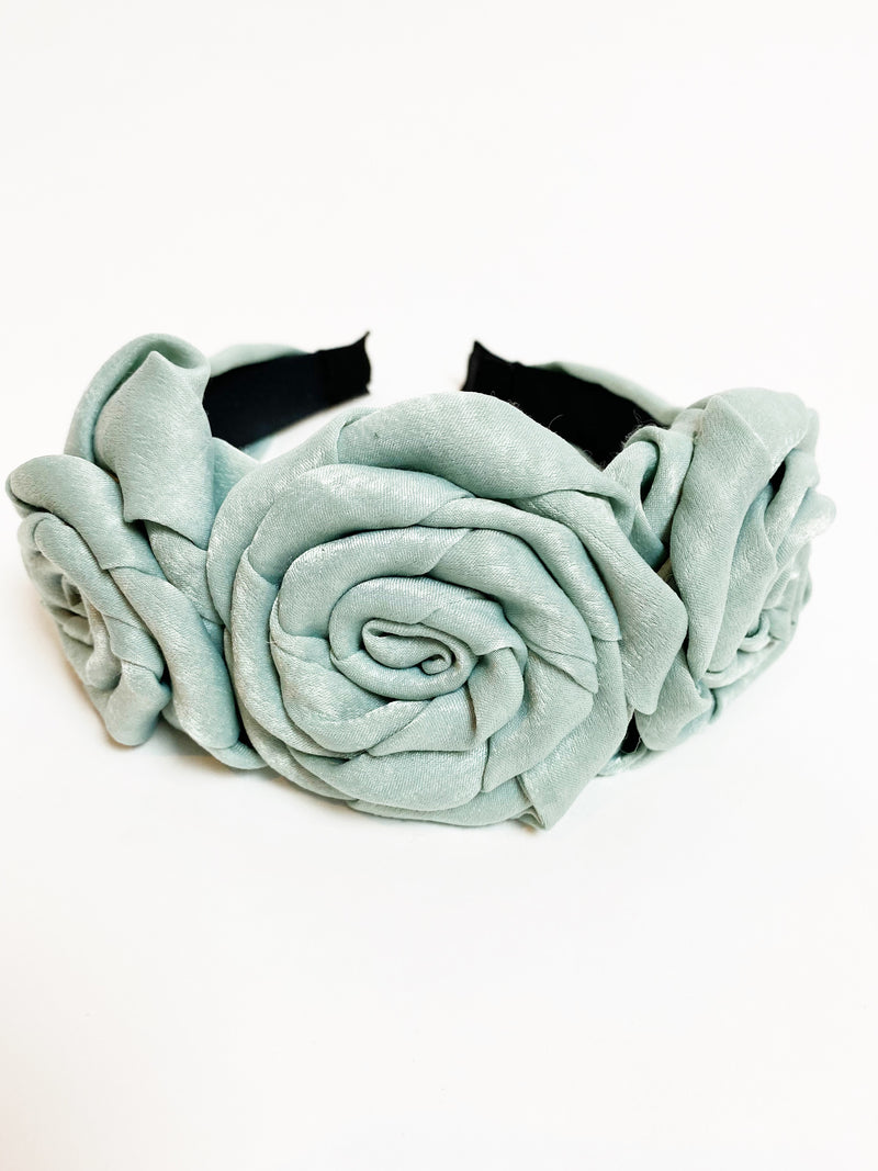 Flower Child Headband - Ice Blue