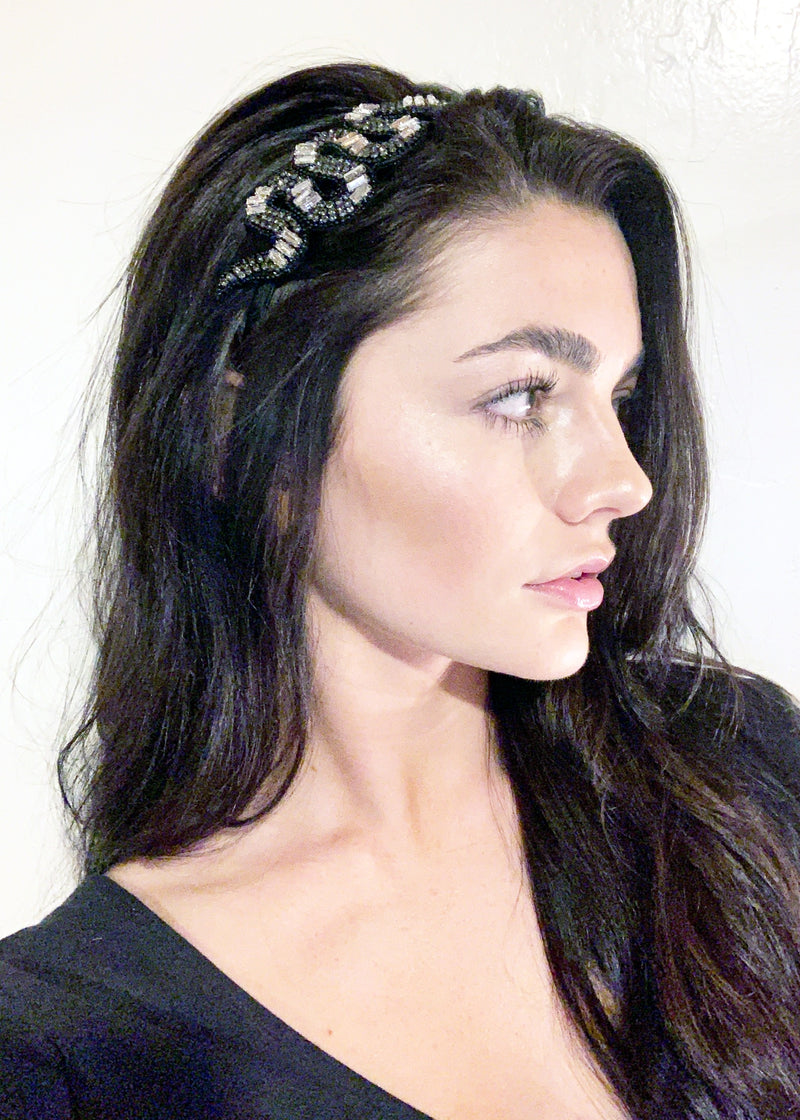 Large Medusa Headband - Gunmetal