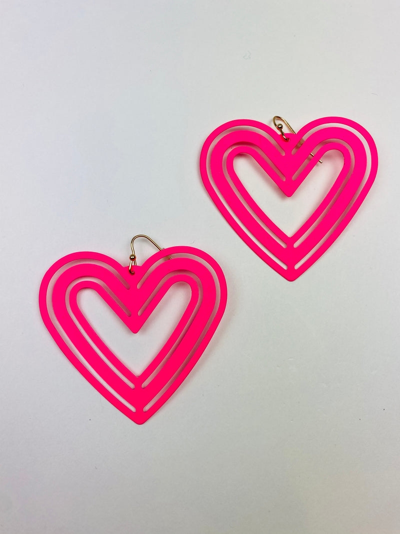 Wild Hearts Earrings - Pink
