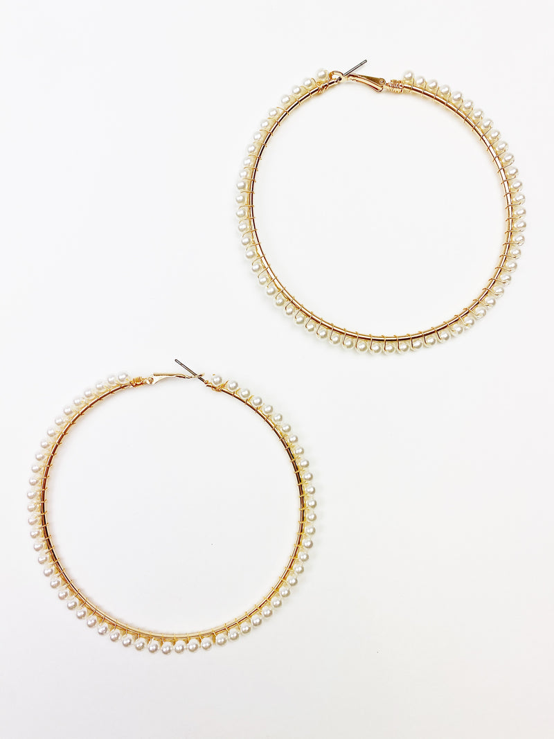 Pretty Little Pearlies Hoops - Tiny