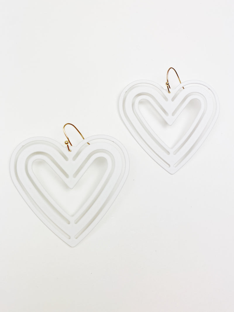 Wild Hearts Earrings - White