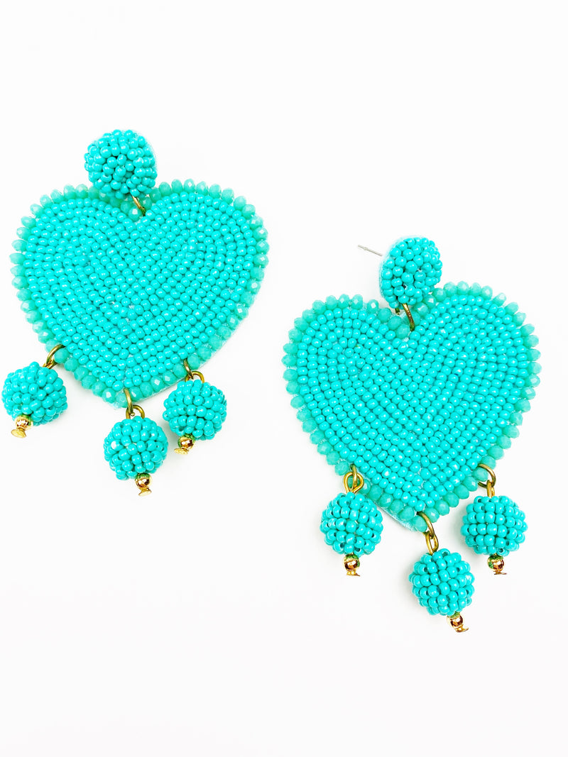 Hearts on Fire Earrings - Turquoise