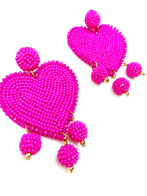 Hearts on Fire Earrings - Pink